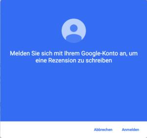 Google Bewertung Ohne Namen